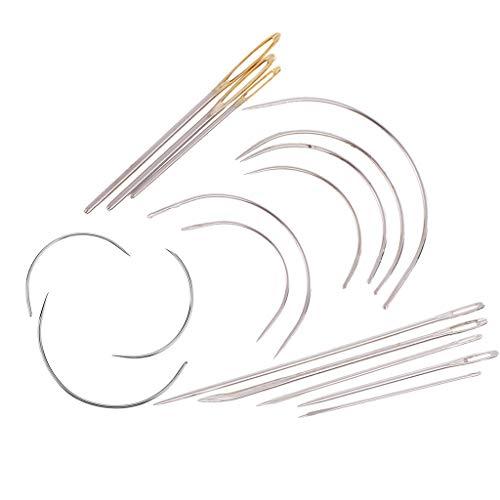 D DOLITY 17ピース 特殊針 カーブ針 セット カーペット キャンバス 裁縫 縫製修理用 手芸用品の商品画像