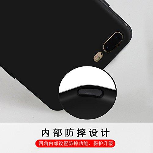 Funda para Apple iPhone 7 Plus / 8 Plus , IJIA Puro Negro DONT TOUCH MY PHONE TPU Silicona Suave Cover Tapa Caso Parachoques Carcasa Cubierta Case para Apple iPhone 7 Plus / 8 Plus (5.5) Black-XY15