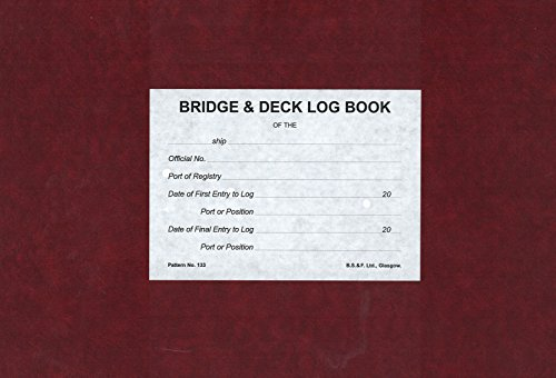 Bridge and Deck Log Book No. 133-3 Months Numbered: Pattern no. - Deck Log