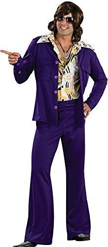 Rubie's 60's Revolution Men's Leisure Suit, Purple, One Size Costume ()