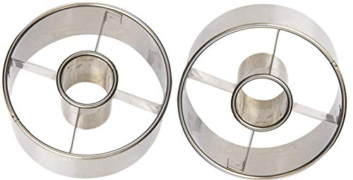 Ateco 14423 3-1/2-Inch Stainless Steel Doughnut Cutter (Set of - Steel Stainless Donut
