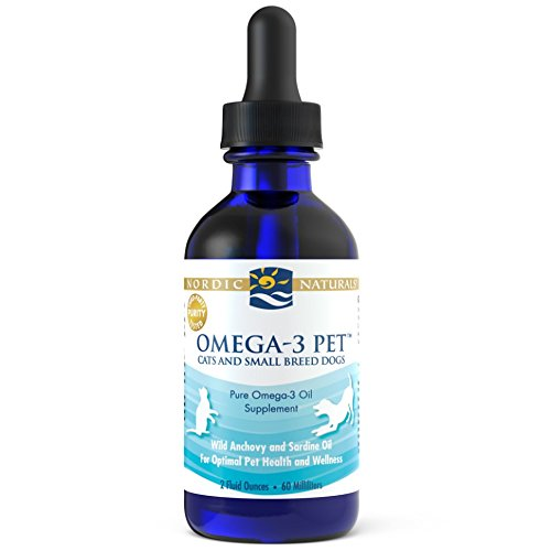 Nordic Naturals Omega 3 Pet Fish Oil Liquid for Cats and Dogs (Cat Supplement)
