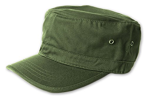(Magic Washed Military Hat - Army)
