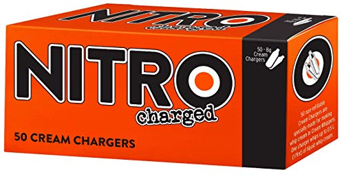 BestWhip Nitro Charged Cream Chargers - 50 pk Whip Whipped Cream by Best Whip