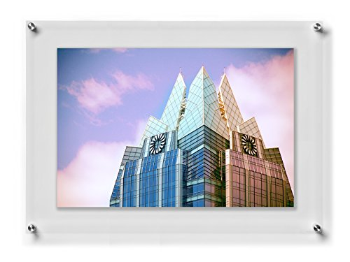 Wexel Art 23x33-Inch Double Panel Clear Acrylic Floating Frame with Silver Hardware for Up to 20x30-Inch Art & Photos 20 X 30 Art