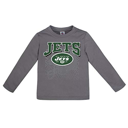 NFL New York Jets Unisex Long-Sleeve Tee, Gray, 2T