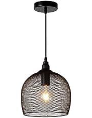 Lucide MESH - Hanglamp - diametro 22 cm - 1xE27 - Zwart, 22 x 22 x 150 cm