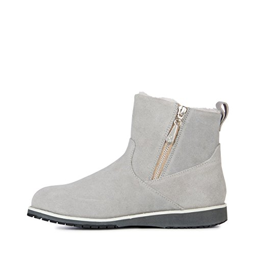 EMU Australia Womens Beach Mini Deluxe Wool Boots Dove Grey tCXwJcRE