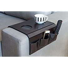 Sofa Arm Tray Table. Remote Control and Cellphone Organizer Holder, Arm Rest Organizer, Best Quality, Arm Rest Table With Pockets