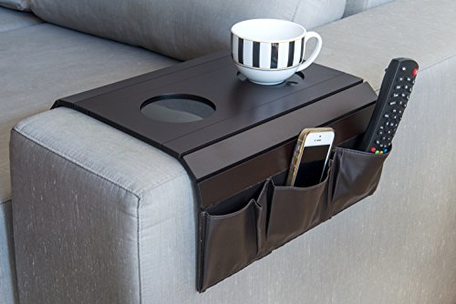 Sofa Arm Tray Table. Remote Control and Cellphone Organizer Holder, Arm Rest Organizer, Best Quality, Arm Rest Table With (Sofa Arm Tray)