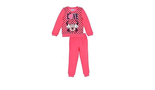 6b0d0e56e Chandal niña Minnie Disney color Rosa Talla 6  Amazon.es  Ropa y accesorios