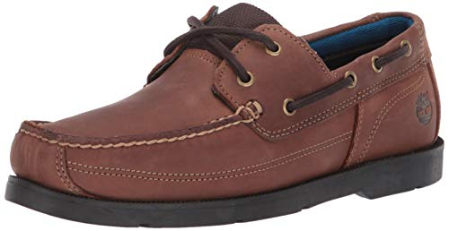 Timberland Mens Piper Cove Full Grain Leagther Boat Shoe Medium Brown/Trail Size 10 (Boats Shoes Timberland)