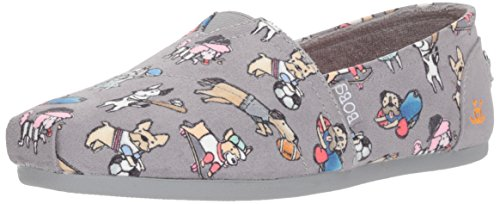 Skechers BOBS Women's Plush-Go Fetch Ballet Flat, Grey, 9.5 M US by Skechers