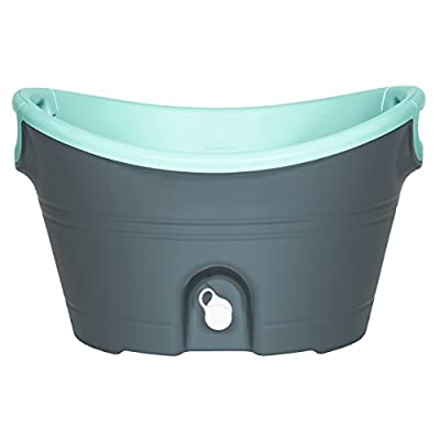 Igloo Insulated Party Bucket, 20 quart/18.9 L, Charcoal Seafoam Green/Translucent