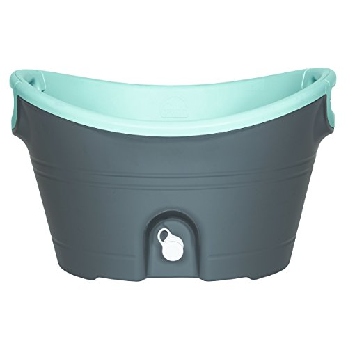 Igloo Insulated Party Bucket, 20 quart 18.9 L, Charcoal Seafoam Green Translucent – 49638