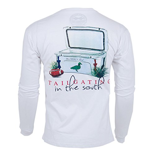 Properly Tied L/S Southern Tailgate True White XXL Mens Shirt