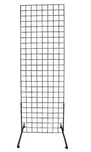 Grid Screen 1900B(1) - 1918B(1PR) Black 2' x 6' Standing by Grid Screen