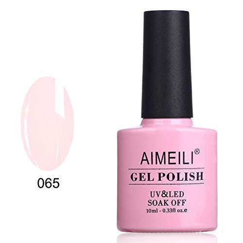 Natural French Manicure - AIMEILI Soak Off UV LED Gel Nail Polish - Pink Nude (065) 10ml