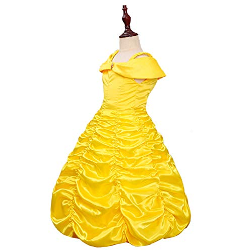 Almce Little Girls Princess Dress Costume Layered Off Shoulder Gown Party Dress (4-5 Years) Yellow - http://coolthings.us