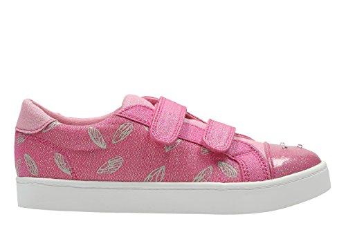 Clarks Pattielola Inf - Zapatos de cordones de Lona para mujer rosa rosa