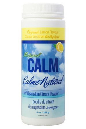 NATURAL VITALITY Lemon Natural Calm Ionic Magnesium Citrate Powder, 8 OZ
