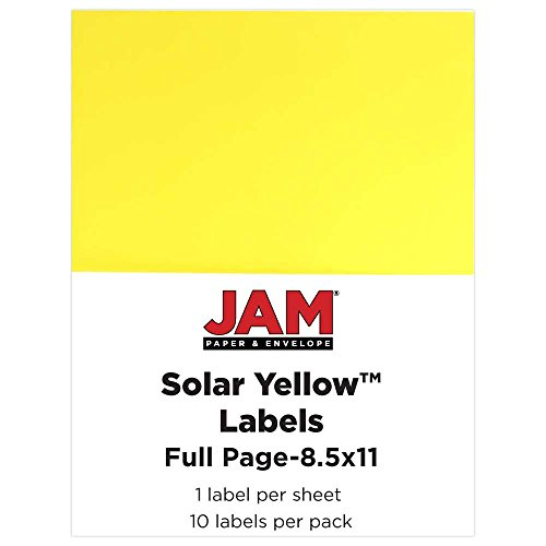 jam-paper-full-page-labels-85-x-11-sticker-paper-astrobrights-solar-yellow-10-pack