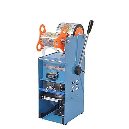 cgoldenwall comercial vaso de papel sellado máquina manual de plástico Copa Tapa más cerca eléctrica batidos