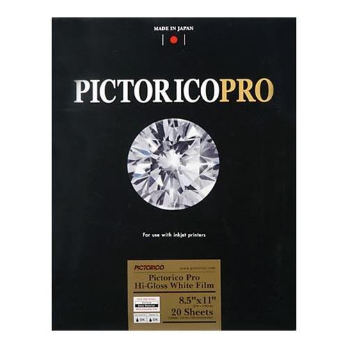 (Pictorico PPF150, Pro Hi-Gloss White Inkjet Film, 7.3 mil., 260gsm, 8.5x11