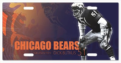 - Chicago Bears - The Run v17 Vanity License Plate