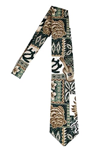 Hawaii Neckties - Green Tapa (Tie Hawaii)