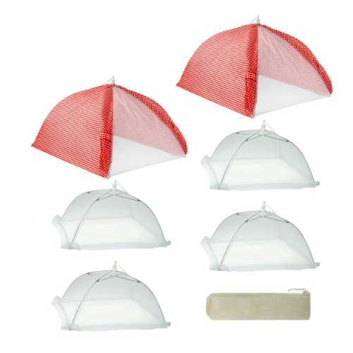 MR. BAR-B-Q 7-Piece Cabana Style Umbrella Covers, Red