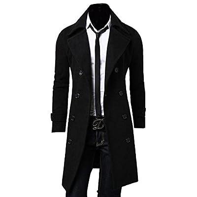 Abetteric Men Casual Slim Long Dust Coat Trench Coat Outwear hot sale