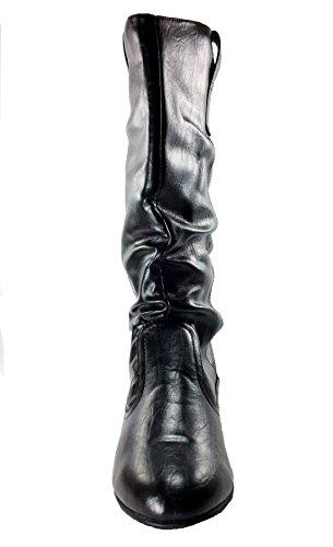 Mid-kalf Slouchy & Combat Boots Voor Dames - Assorti Stijl / Kleuren Zwart