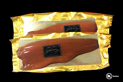 Scottish Smoked Salmon - 6.5 Lb. New York's Delicacy, Most Awarded, Non-Sliced, Whole Smoked Salmon Fillets (2 Fillets)