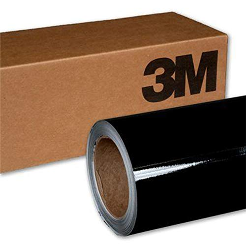 3M 1080 G12 GLOSS BLACK 5ft x 7ft (35 Sq/ft) Car Wrap Vinyl Film ()