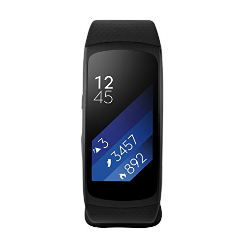 Samsung Gear Fit2, Black (Large) (Certified Refurbished)