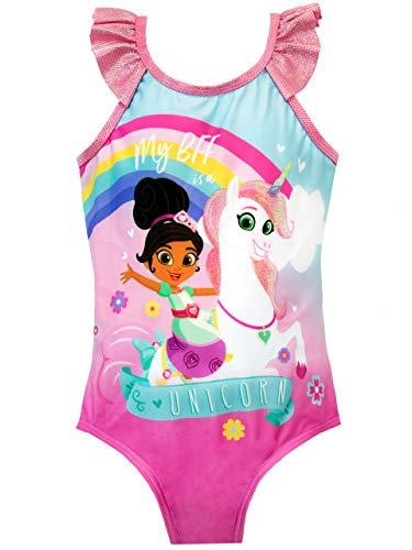 Nella the Princess Knight Girls Nella and Trinket Swimsuit Size 4 Pink