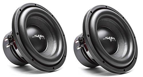 (2) Skar Audio SDR-10 D2 10″ 1200 Watt Max Power Dual 2 Ohm Car Subwoofer