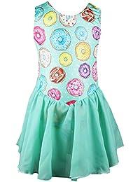 855967e6f Toddler Girls Cute Gymnastics Skirted Leotards One-Piece Unicorn Floral  Sparkly Dance Ballet Tutu Dress