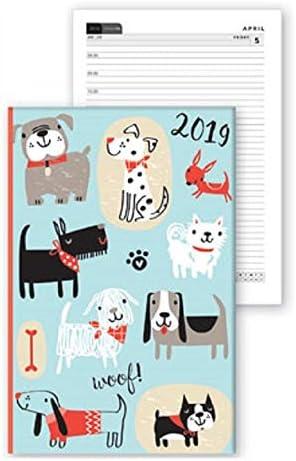 2019 - Agenda semanal A6 con diseño de gatos y gatos, color rosa y ...