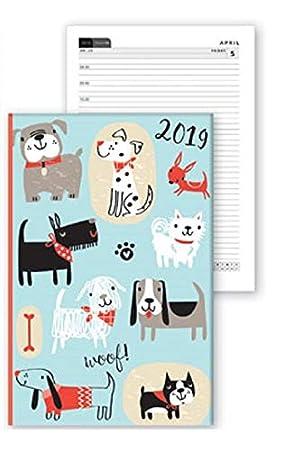 2019 - Agenda semanal A6 con diseño de gatos y gatos, color ...