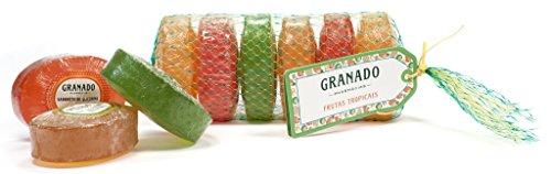 Linha Glicerina Granado - 6 Sabonetes em Barra Mix de Frutas Tropicais (6 x 90 Gr) - (Granado Glycerin Collection - 6 Tropical Fruits Assorted Bar Soaps (6 x Net 3.3 Oz))