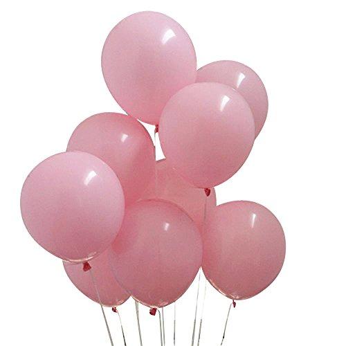 (10 inches light pink latex balloons birthday wedding balloon decoration (50)