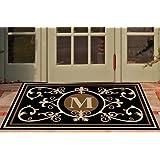 Edinburgh Estate Doormat - Monogrammed Black & Suede M 3 x 5