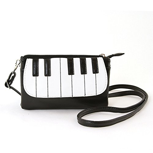 Fashion Piano Keyboard Zippered Small Purse Wristlet by WonderMolly