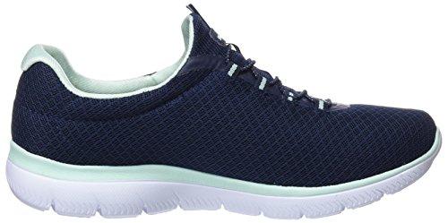 Aqua Memory Foam Summits Navy Skechers Fitness Azul Sneaker Marino Black Trainers Aqua Women's SnwAXv