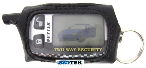 Faux Leather Case Protector (Scytek-Remote-Case - Scytek Alarms Remote Protector Faux-Leather Case For Pager Remote)