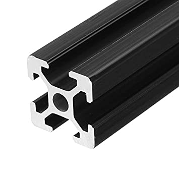 Farwind Marco de extrusión de Aluminio anodizado Negro 2020, 450 ...