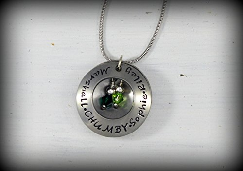 Custom Domed Locket Style Pendant Necklace - Perfect for Mother's or Grandmother's