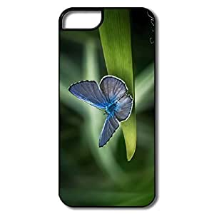 IPhone 5/5S Covers, Grass Butterfly White/black Cases For IPhone 5 5S by icecream design